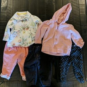 Other - Lot of baby girl 6 month pants and jackets